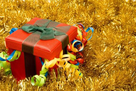 A Christmas present in a festive holiday box. Stock Photo - 3612396