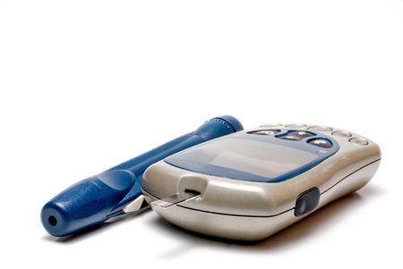 diabetes meter kit: A diabetics test meter and finger prick device