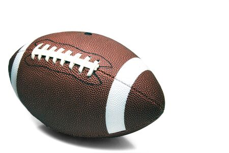 An American football ready for sports action. Stock Photo