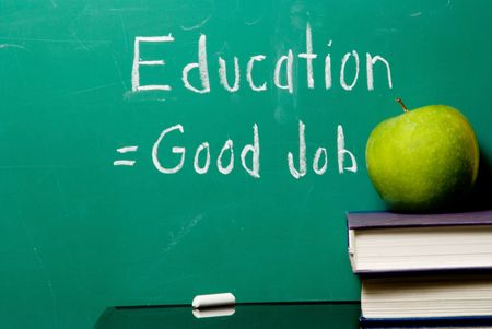 good job: The concept that staying in school equates to getting a good job.