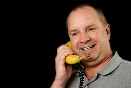 A telephone made out of a banana. Stock Photo - 3822232