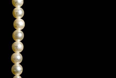 A hanging string of beautiful oyster pearls. Stock Photo - 3896110