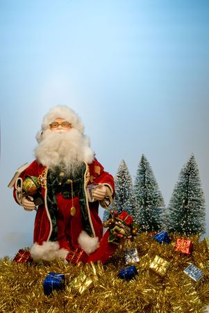 st nick: That joly old elf known better as Santa Claus. Stock Photo