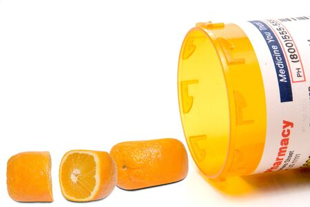 fda: Prescription orange pills waiting for FDA approval Stock Photo