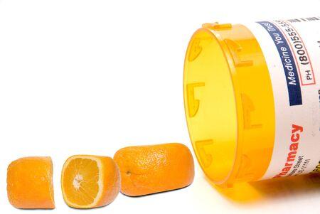 Prescription orange pills waiting for FDA approval Banco de Imagens