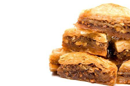 baklava: The delicious gourmet dessert known as baklava. Stock Photo