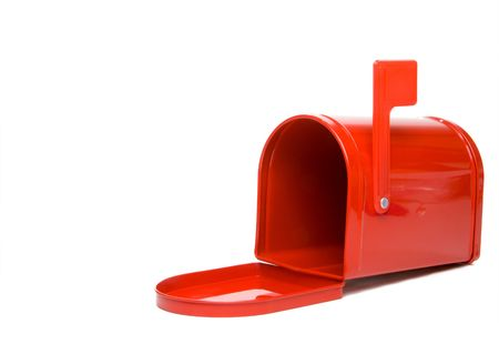 A postal mailbox ready for mail and packages. photo