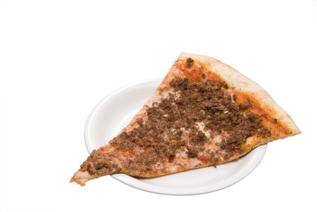 A delicious slice of beef covered pizza. Stock Photo - 4306879