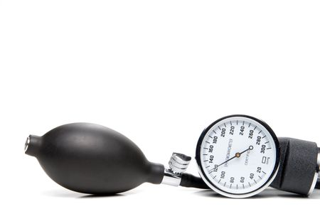 systolic: A professional blood pressure tool known as a Sphygmomanometer. Stock Photo
