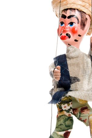puppetry: A handmade custom Mexican style marionette puppet.