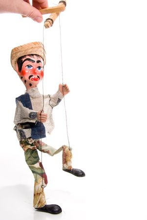 puppet show: A handmade custom Mexican style marionette puppet.