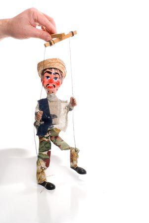 puppetry: Una costumbre mexicana de t�teres marioneta hecha a mano de estilo.