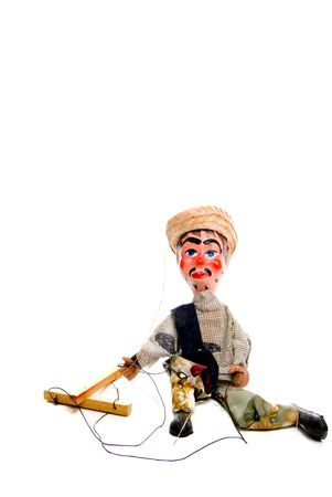 A handmade custom Mexican style marionette puppet. photo