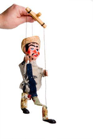 puppetry: Una mano personalizados estilo mexicano marioneta t�tere.