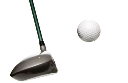 A driver just before it hits a golf ball. Stock Photo - 4458119