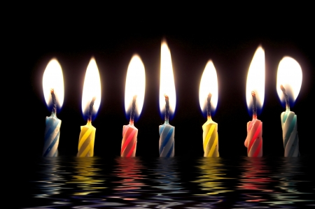 Several wax candles typically used for birthday celebrations. Stock Photo - 4576055