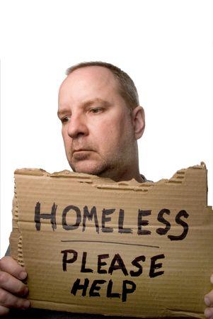 いくつかの助けを懇願するようなホームレスの男性。 写真素材