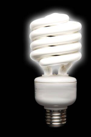 florescent light: A compact energy saving florescent light bulb.