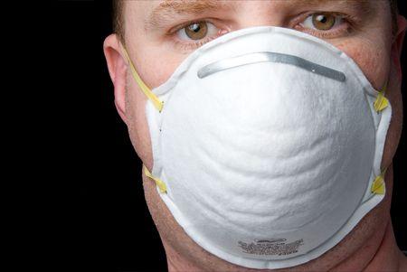 aparato respiratorio: Un respirador industriales de bajo costo del equipo de protecci�n personal.
