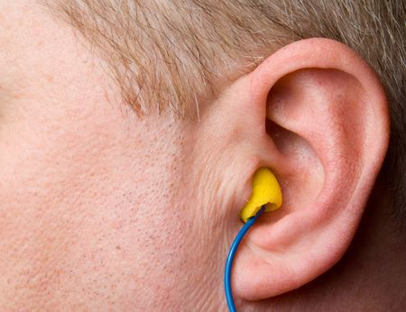 personal protective equipment: A set of personal protective equipment known as ear plugs.