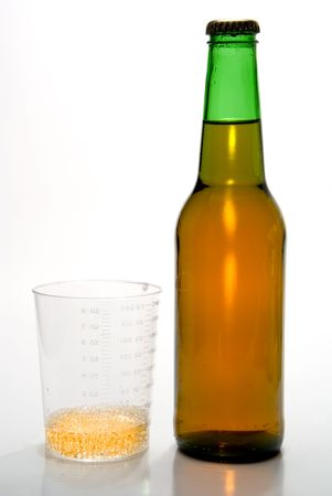 bottled beer: The body can process one ounce of alcohol per hour.