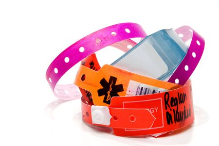 A brand new hospital patient ID bracelet.