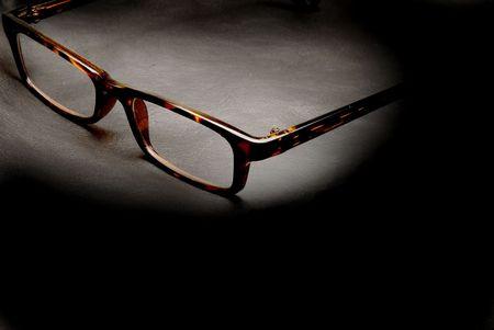 Een paar van stijlvolle leesbril voor blinden en slechtzienden.