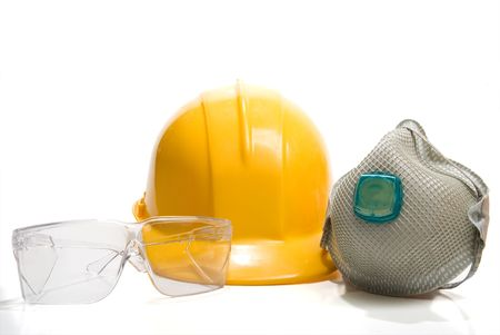 An assortment of industrial Personal Protective Equipment. photo