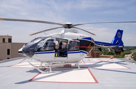 rescue helicopter: Medical Helicopter Stock Photo