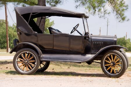 motoring: An old vintage antique car in mint condition. Stock Photo