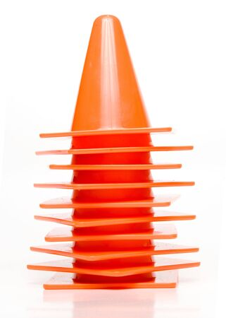 Orange traffic cone for the directioning of traffic. Stock Photo - 5317810