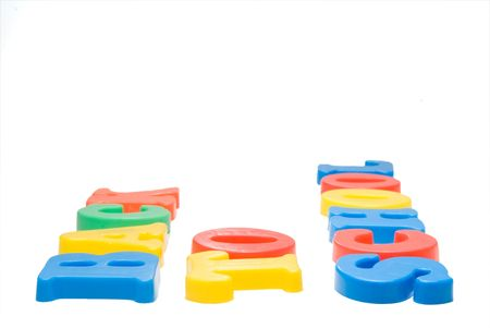 Magnetic letters spelling out the words Back to School. Stock Photo - 5348705