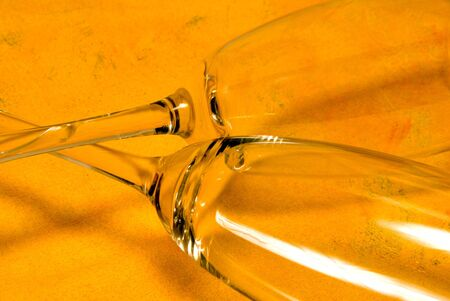 Champagne Flutes ready to be filled with bubbly. Stock Photo - 5397526