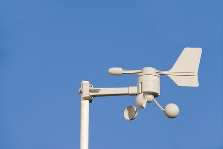 anemometer: A Weather Station measuring wind speed and direction.