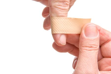plaster on finger photo