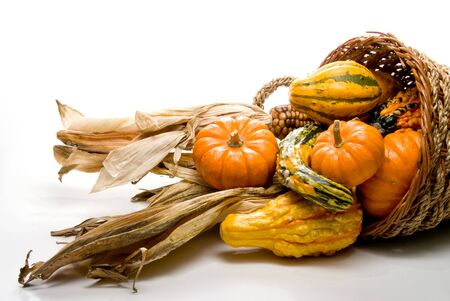 A Cornucopia celebrating the years bountiful harvest. photo
