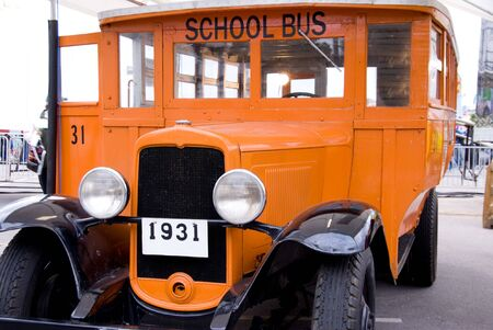 restored: An old restored 1931 model school bus.