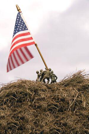 A re-enactment of the Iwo Jima flar raising. Stock Photo - 5910512