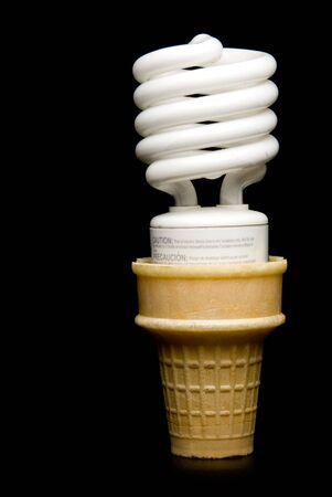 florescent light: A Florescent Light Bulb Ice Cream Cone