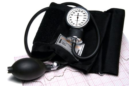 sphygmonanometer: A Sphygmonanometer on top of a EKG readout