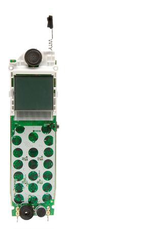 cordless phone: The inside workings of a cordless phone.