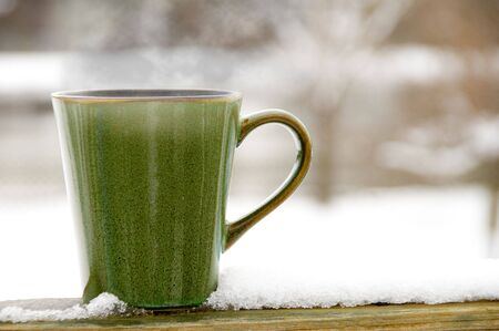 winter break: A delicious cup of Steaming Hot Coffee