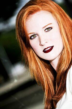 A beautiful young woman looking far away Stock Photo - 7045322