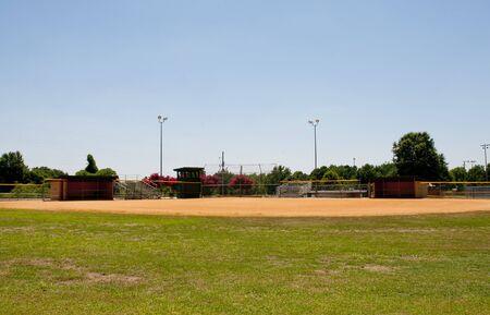 campo de beisbol: Un campo de b�isbol en un parque de la comunidad