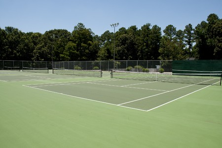 A court used for the popular sport of tennis Stock Photo - 7374702