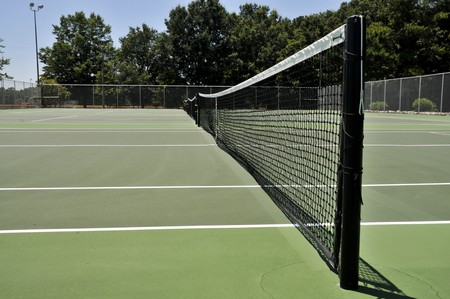 on the surface: A court used for the popular sport of tennis Stock Photo