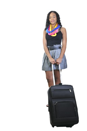 A beautiful young woman going on vacation Stock Photo - 7365142