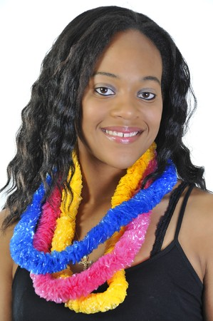 A beautiful African American Woman smiling wide Stock Photo - 7365156