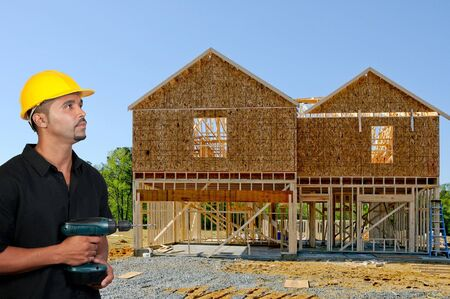 The construction of a new residential home Stock Photo - 7759703