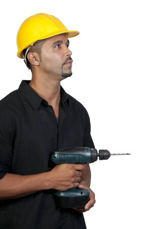 A male construction worker a job site. Stock Photo - 7759663
